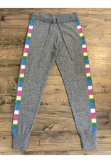 Threads of Privilege Threads of PRVLG Cashmere neon stripe joggers