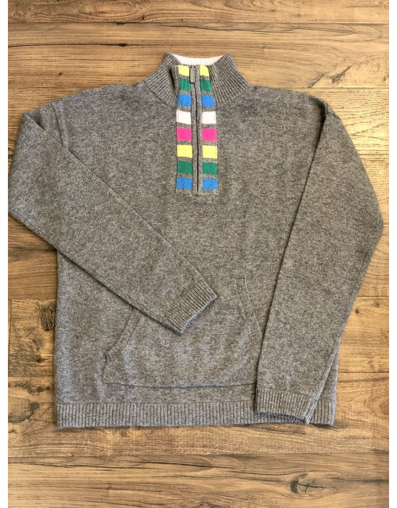Threads of Privilege Threads of PRVLG Cashmere stripe half zip