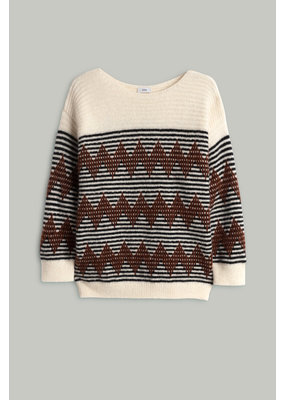 Closed Patterned Knit sweater