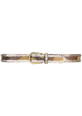 Streets Ahead Army two tone studded belt
