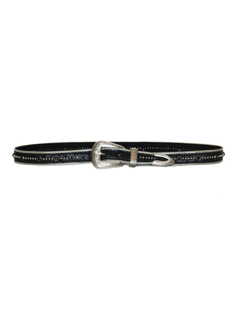 Streets Ahead Streets Ahead Silver hardware studded belt