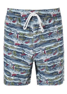 Hartford Printed swim trunk