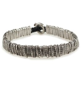 M.cohen Distressed silver barcode