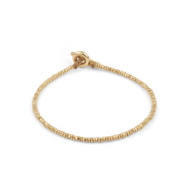 M.cohen Cornerless Mini Bead Gold bracelet