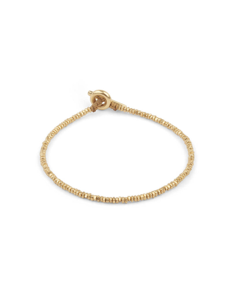 M.cohen M.Cohen cornerless Mini Bead Gold bracelet