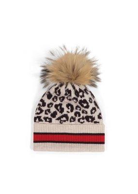 Autumn Cashmere Sporty Leopard hat