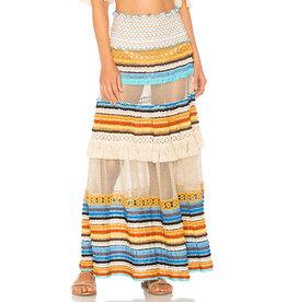 Chio Knit Fringe Maxi skirt