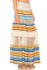 Chio Chio Knit Fringe Maxi skirt