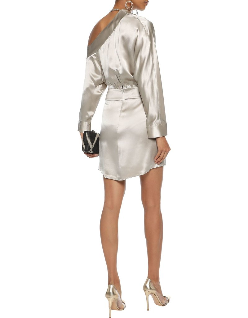 Michelle Mason Michelle Mason Wrap Effect Silk dress