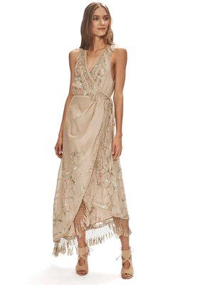 Love Sam Layla Fringe Wrap dress