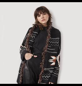 Autumn Cashmere Navajo Fringe Belted Cardigan