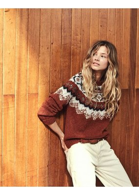Hartford Mayo Jacquard and Lurex sweater