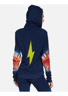 Lauren Moshi Lennox Lightning Zip Hoodie