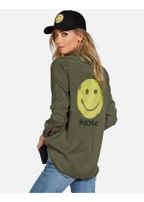 Lauren Moshi Sloane Happy Face shirt