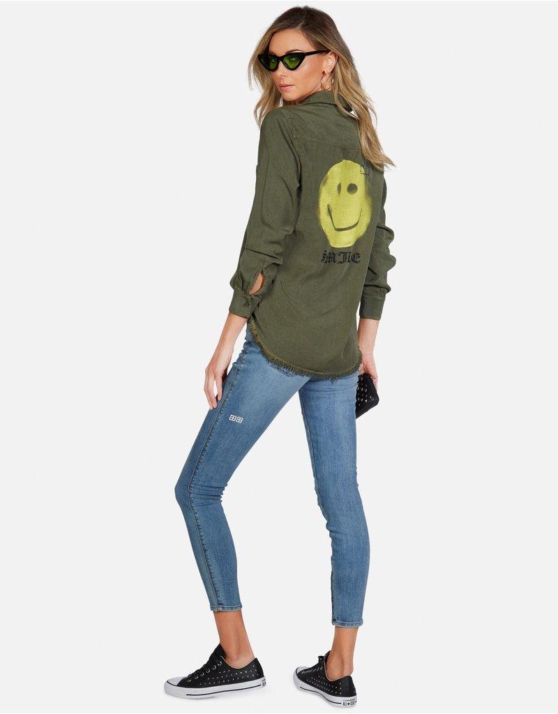 Lauren Moshi Lauren Moshi Sloane Happy Face shirt