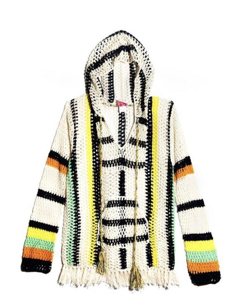 Anna Kosturova Crochet Baja hoodie
