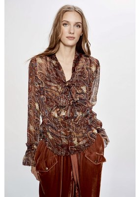 Love Sam Moroccan Paisley blouse