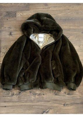 History Repeats Fur Bomber jacket