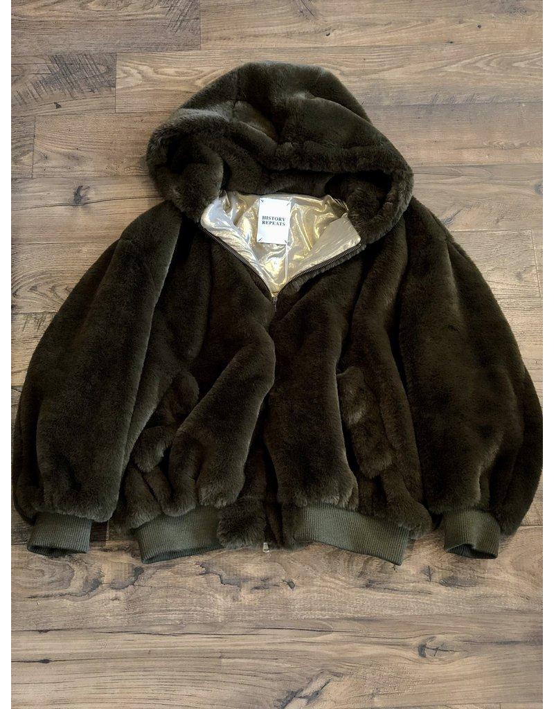 History Repeats History Repeats Fur Bomber jacket