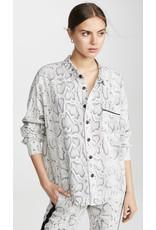 Pam & Gela Pam & Gela Snake Print Oversized shirt