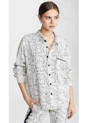 Pam & Gela Snake Print Oversized shirt