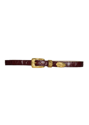 Streets Ahead Gold Buckle Croc belt