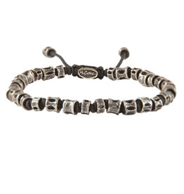 M.cohen Jointed Oxidized Casted Fishbone bracelet