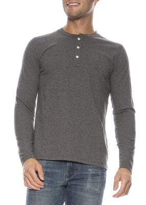 Hartford Knitted Long Sleeve Henley