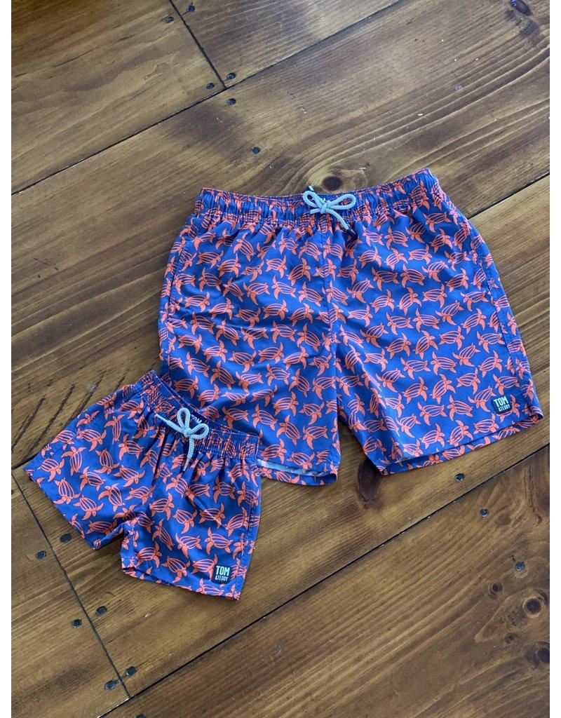 Tom & Teddy Tom & Teddy KIDS Turtle Swim Trunks
