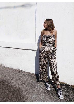 Overlover Palms Zebra Jumpsuit