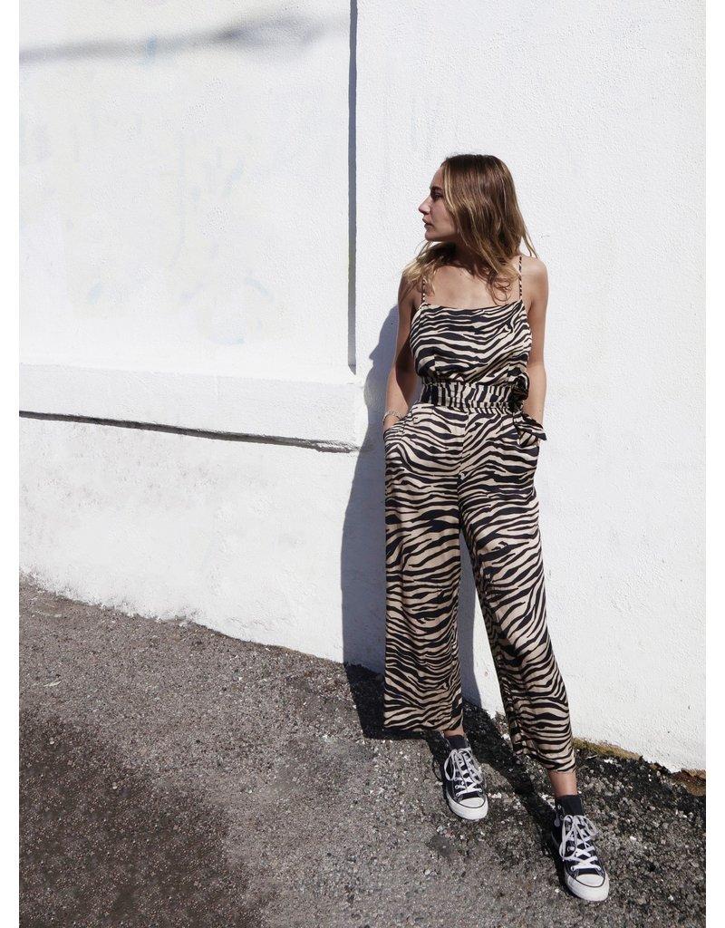 Overlover Overlover Palms Zebra Jumpsuit
