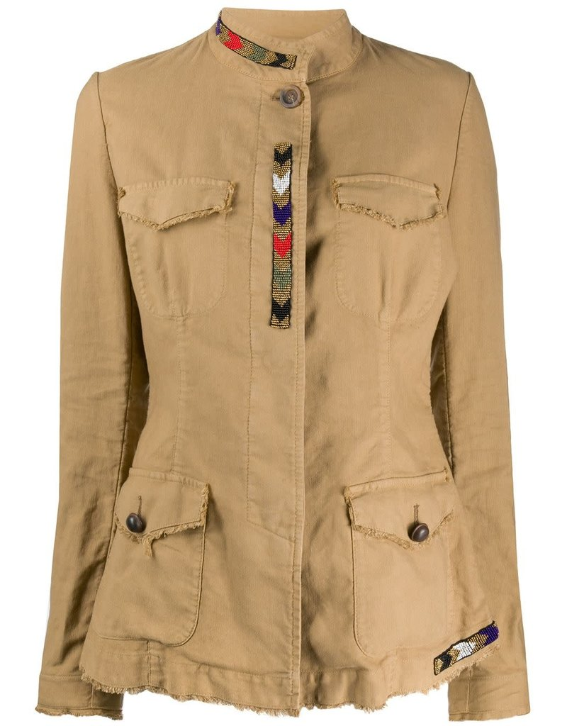 Bazar Deluxe Bazar Deluxe Military Jacket with Beading