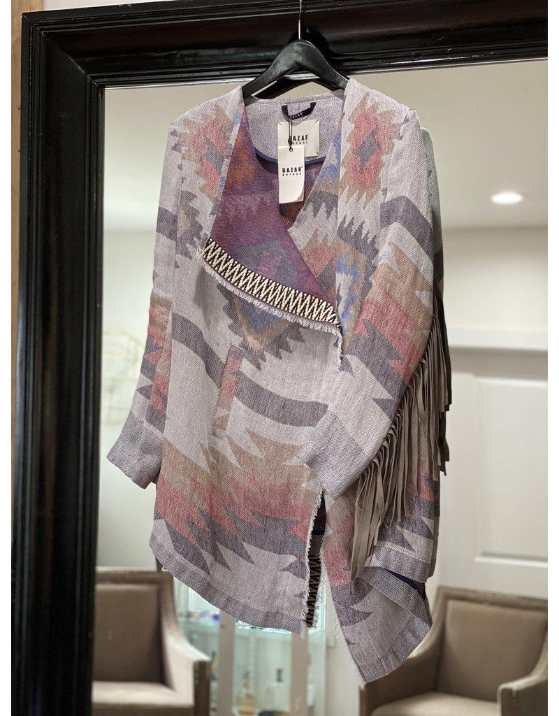 Bazar Deluxe Bazar Deluxe Aztec Fringe coat