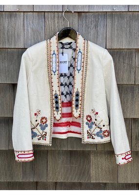 Bazar Deluxe Embroidered Cropped jacket