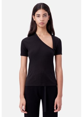 John Elliott Cotton Rib Asymmetrical Tee
