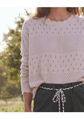 The Great The Scallop Pointelle Sweater