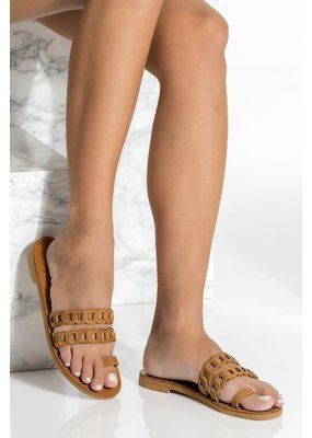 Greek Chic Aura Toe Ring Sandal