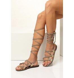 Greek Chic Selene Gladiator Sandals