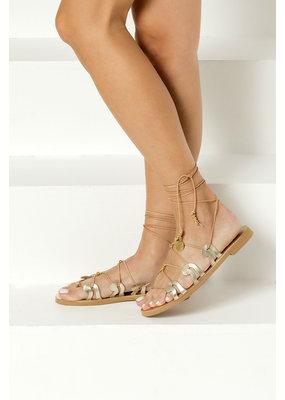 Greek Chic Danae Lace-Up Sandals