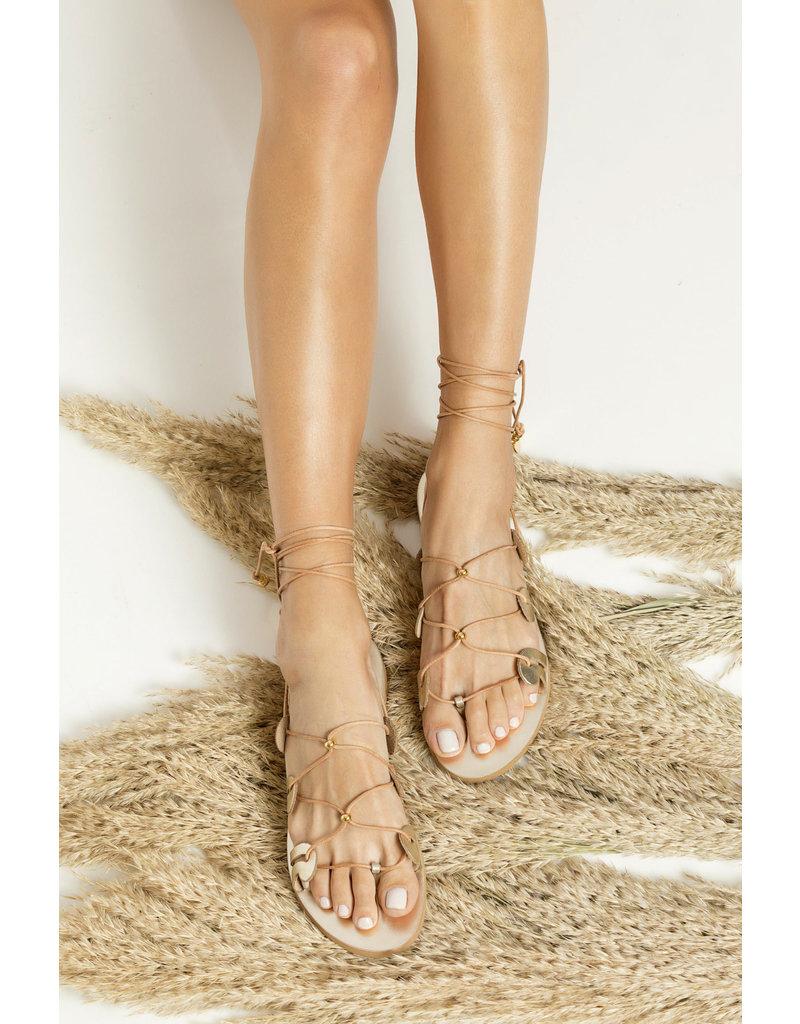 Greek Chic Greek Chic Danae Lace-Up Sandals