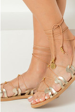 Greek Chic Greek Chic Danae Lace-Up Sandals