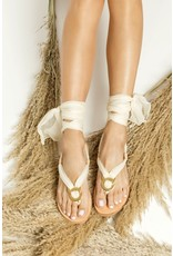 Greek Chic Greek Chic Sophia II Silk Laces Sandals