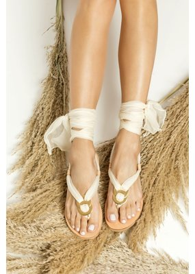 Greek Chic Sophia II Silk Laces Sandals
