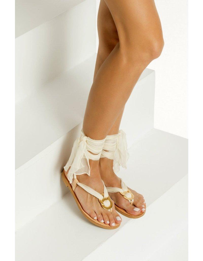 Greek Chic Greek Chic Sophia II Silk Laces Sandals