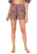 Juliet Dunn Juliet Dunn Leopard High Waisted Shorts