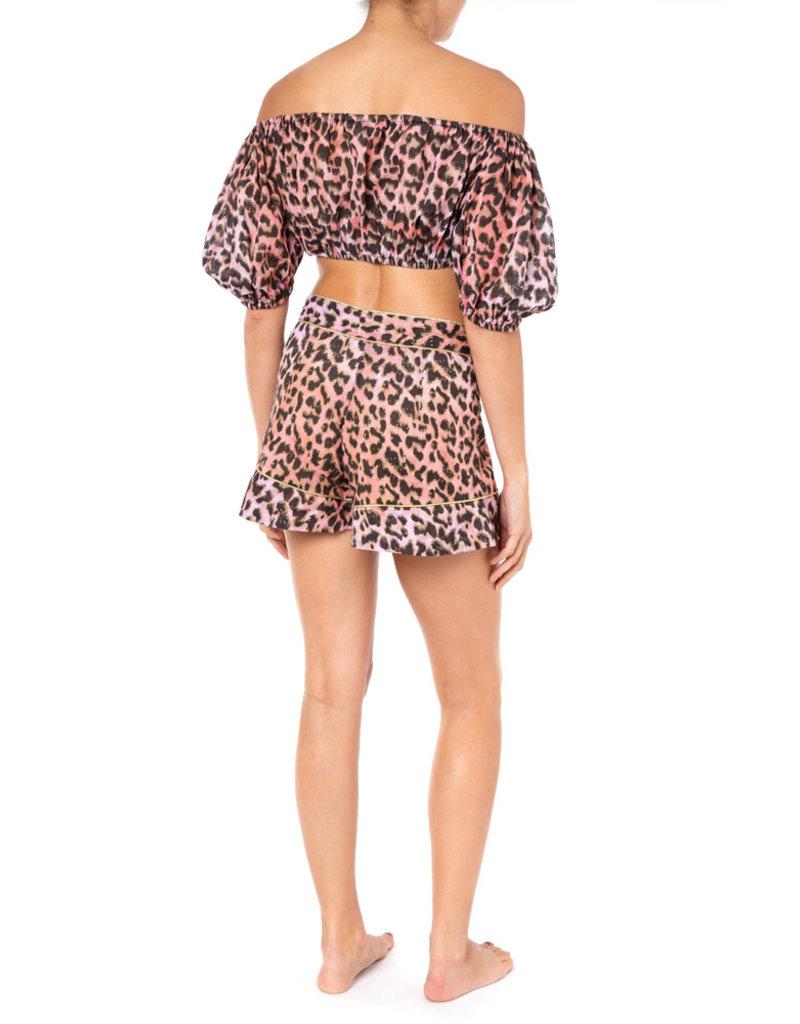 Juliet Dunn Juliet Dunn Leopard Mini Puff Top