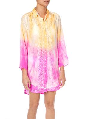 Juliet Dunn Batik Tie-Dye Shirt