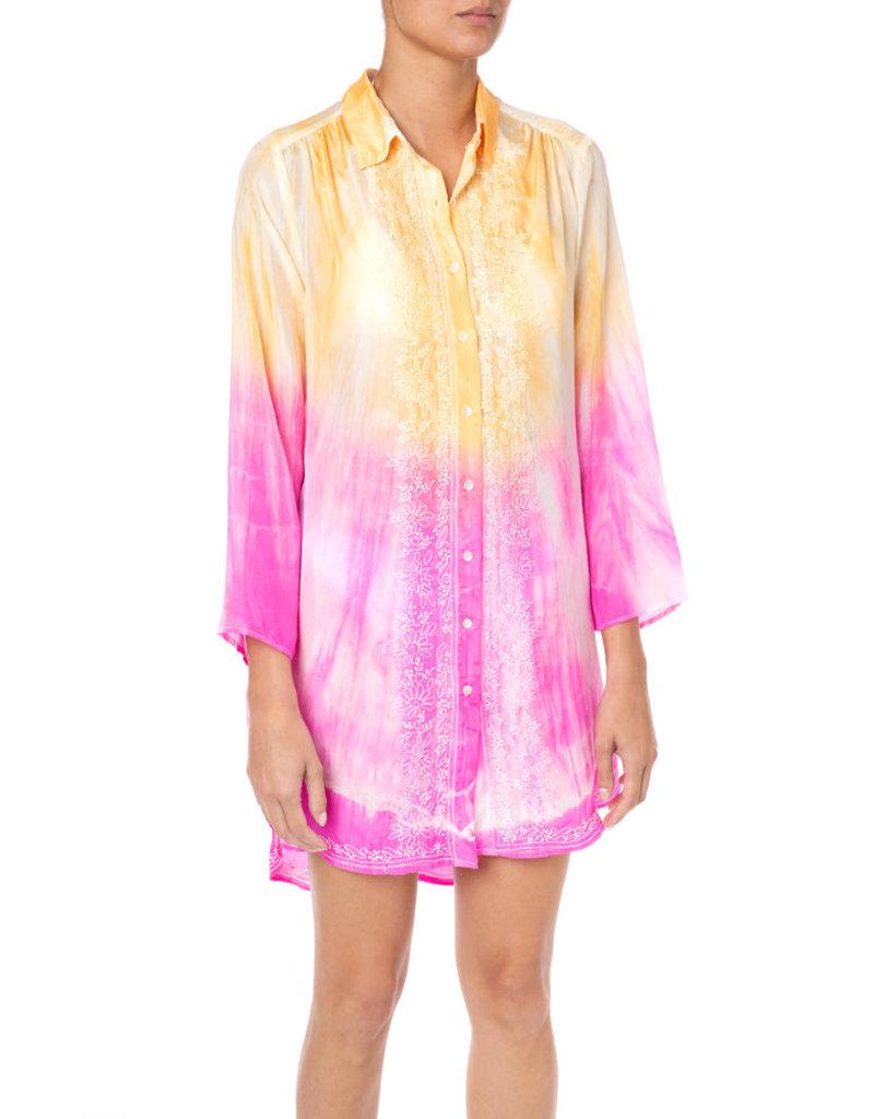 Juliet Dunn Juliet Dunn Batik Tie-Dye Shirt