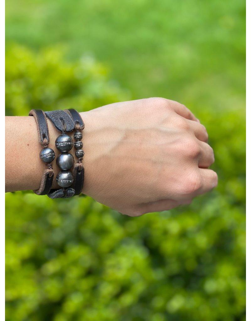 Fait Main Triple Pearl Bracelet