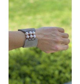 Fait Main Hand Made Multi Pearl Cuff